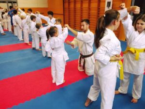 Trénink karate pro děti v Brně na Lesné.