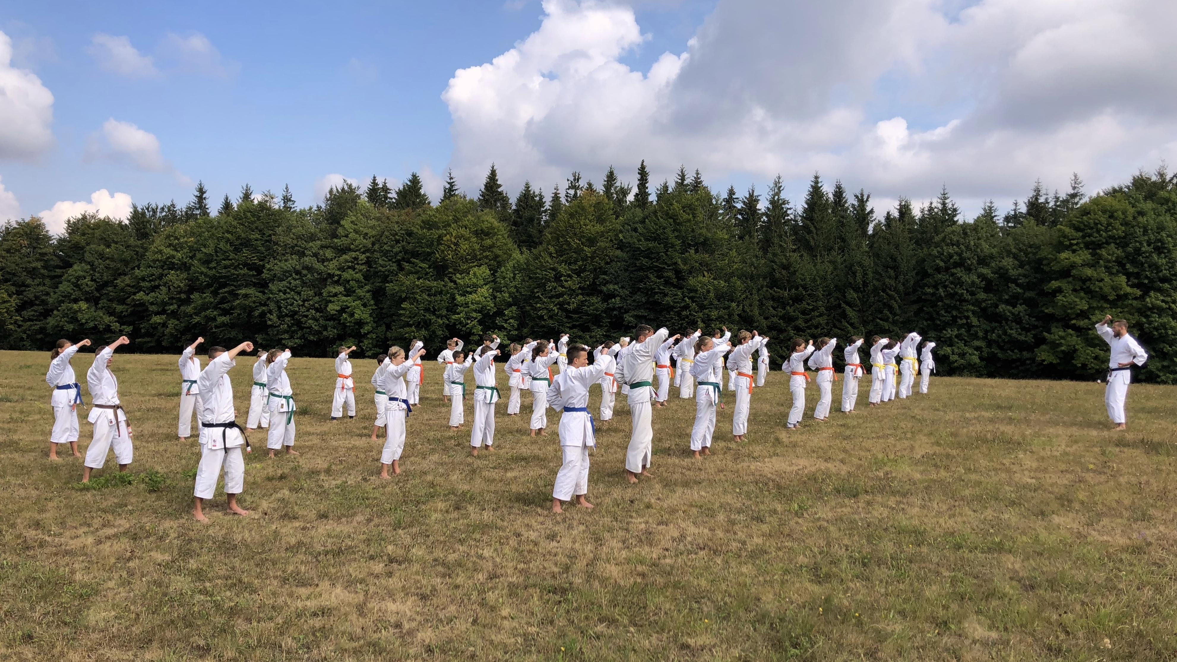 Letní soustředění 2018 Karate TJ Tesla Brno ve Svratouchu