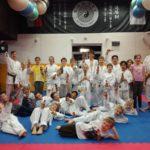 Karate Mikuláš na tréninku dětí-začátečníků