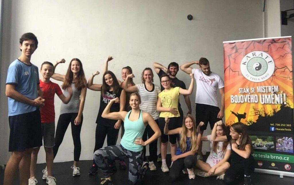 Kondiční trénink Karate Tesla Brno ve SmarGym Tuřany