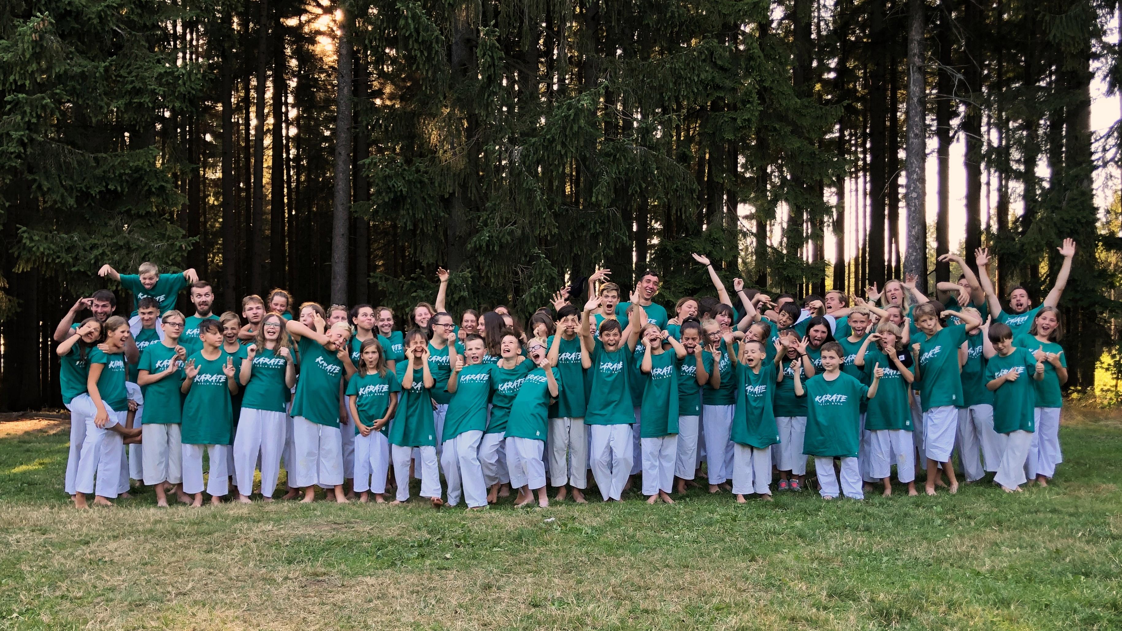 Letní soustředění oddílu karate TJ Tesla Brno - Svratouch 2019