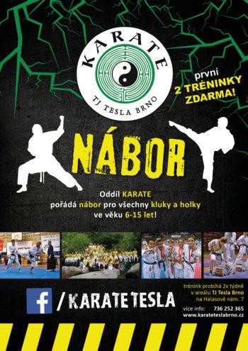 Nábor dětí na Lesné - karate pro začátečníky v TJ Tesla Brno